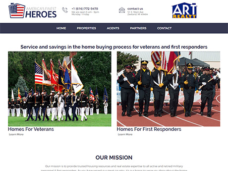 Americas Finest Heroes home page