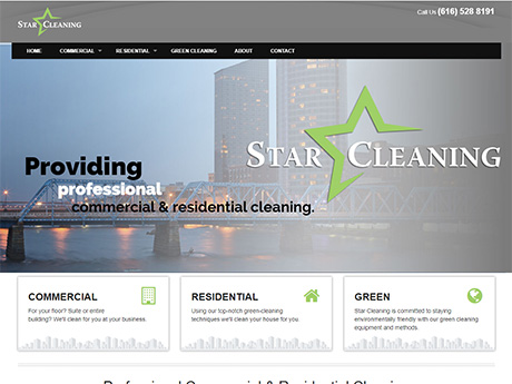 Star Cleaning home page